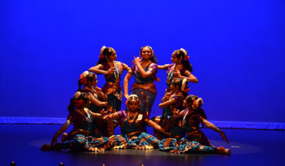 Cultural traditions: students practice classical Indian dance