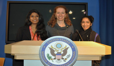 Girls Learn International members go to the United Nations