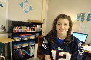 QRU? First year English teacher Lea Civiello