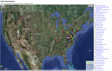 Senior College Choices Interactive Map