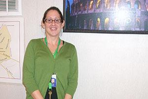 QRU? Latin teacher Alexis Heflin