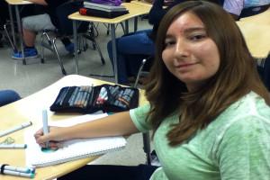 QRU? Freshman Samantha Malzahn