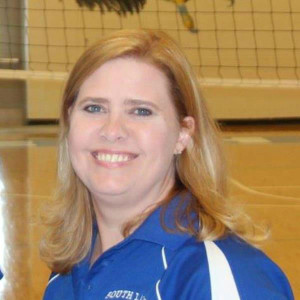 QRU? Varsity volleyball coach Cheri Hostetler