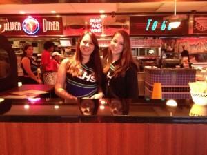 Dance team runs Silver Diner during fundraising night