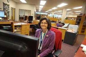 QRU? Librarian Veronica Sedgwick