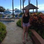 Print editor Charlotte Smith poses at The Kahala hotel where she stayed while visiting colleges in Hawaii.