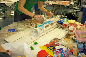 Students and faculty formed teams and participated in the annual gingerbread competition.