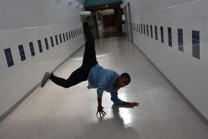 QRU? Junior dance team member Robel Makaveli