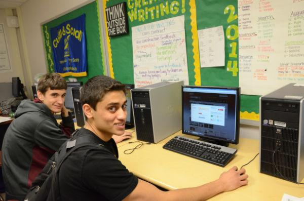 Seniors Paul Fertitta (left) and Sunny Gupta (right) participate in online fantasy football, basketball, baseball, and hockey leagues to channel their competitive streaks, express their passion for sports, earn bragging rights, and, in some cases, win cash prizes. Fertitta plans to compete in fantasy congress as well.