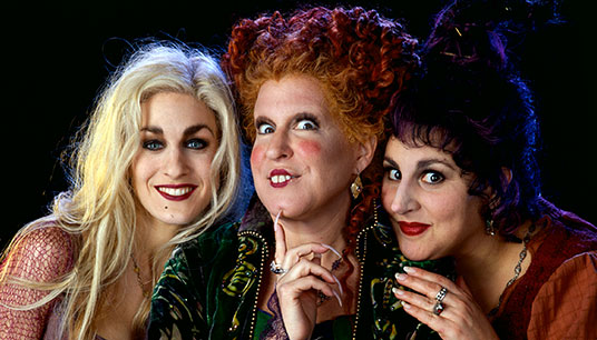 Hocus Pocus (1993) We couldn't talk Halloween favorites without including this classic about an evil coven of Salem sisters determined to suck the youth from every little girl. New kid Max has one night to exile the witches and restore order to Salem.