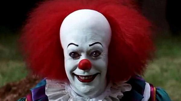This is the clown from the Stephen King movie, It.