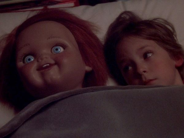 Child's Play (1988) Dark humor meets slasher in this '80s film franchise about a killer doll. Child's Play 2 is the sequel and is also a great watch if you're feeling a horror movie marathon. We wouldn't recommend watching the sequels after that, since the first two are about as good as it gets.