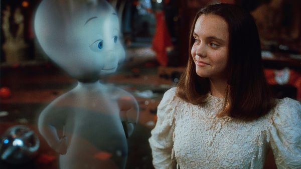 Casper (1995) '90s kids will remember a young Christina Ricci starring as Cat in this animated live action film about the friendliest ghost in town. Pop on this flick for a little dose of family-friendly spooking.