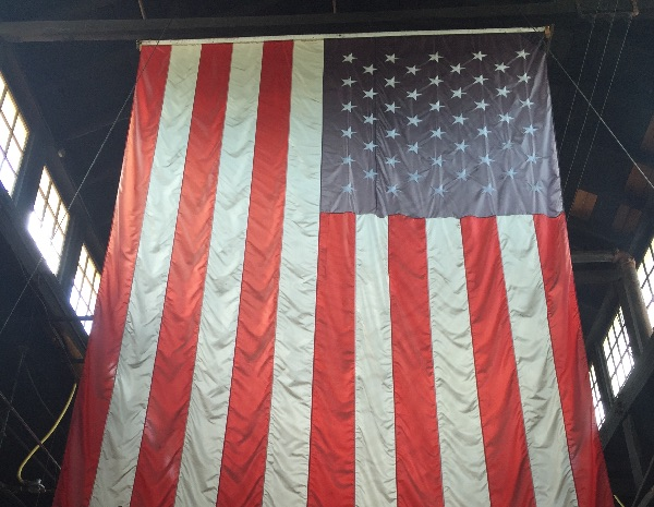 Photo of the American flag, courtesy of Leana Travis