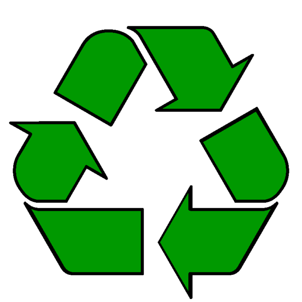 Photo of the recycling symbol, photo courtesy of https://upload.wikimedia.org/wikipedia/commons/7/7e/RecyclingSymbolGreen.png