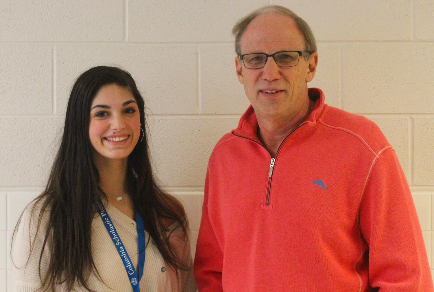 Photo of Mr. Campbell and sports Maddy McFarlin, courtesy of staff photographer Ben Zalles