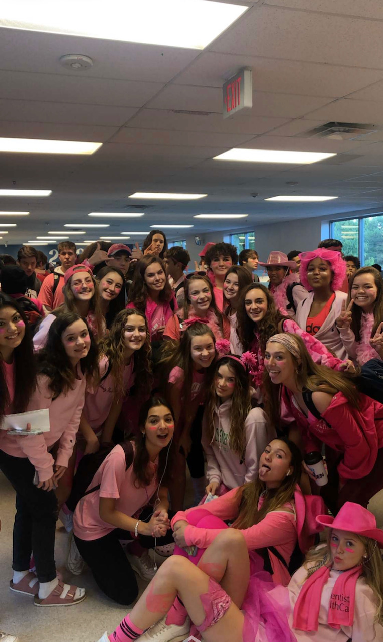 Sophomores get in spirit for homecoming week 2019! Photo courtesy of Uma Shakarchi
