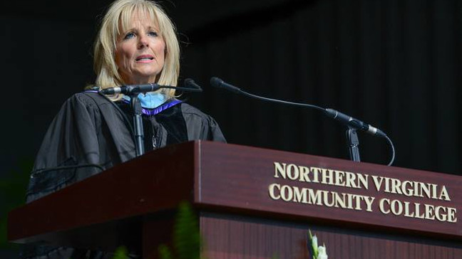 First Lady Biden to continue teaching at NOVA