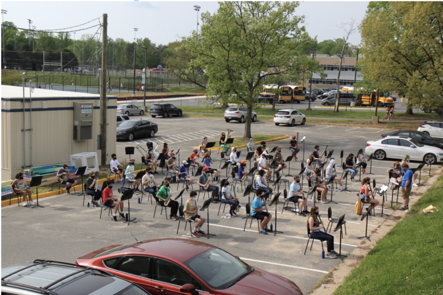 Band rehearsing - Photo courtesy of Mr. Fore